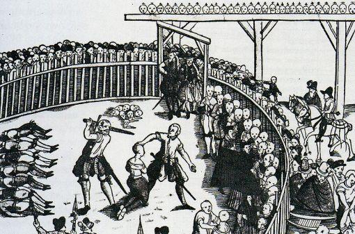 Hinrichtung von Seeräubern am 10 September 1573 in Hamburg - Wikimedia commons