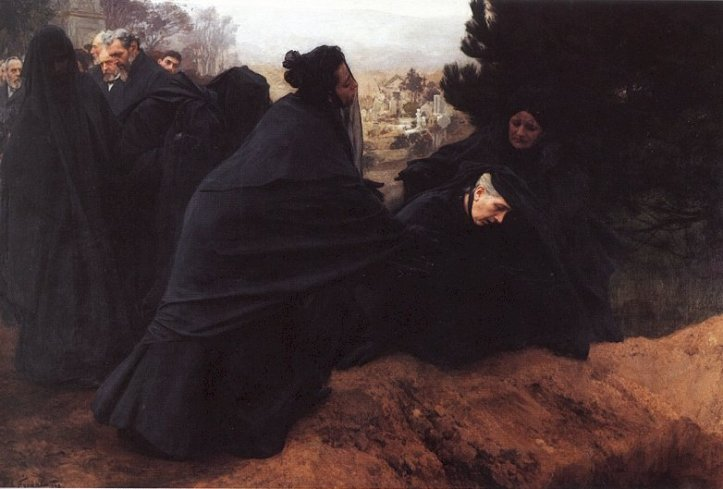 Emile Friant La Douleur 1898 Cuerpos sin nombre