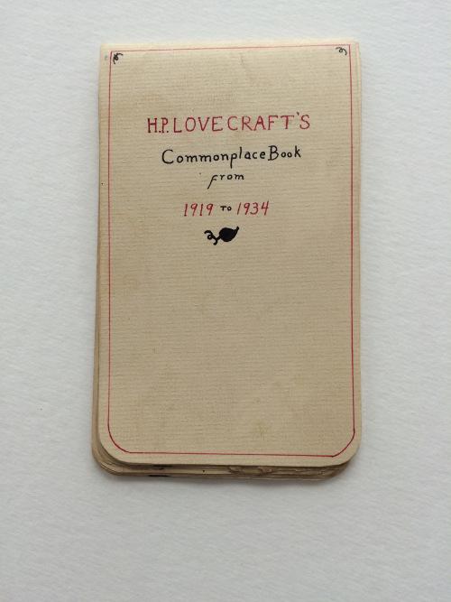 H. P. Lovecraft, notas para historias de terror